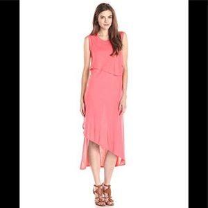BCBG Kyrie Sleeveless Asymmetrical Layered Dress.
